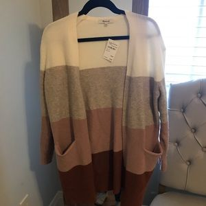 Madewell Colorblock cardigan size xs